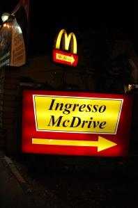 """Ingresso McDrive"" silt"