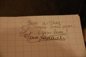 Pühendusega (Best Wishes and Happy New Year :)) autogramm