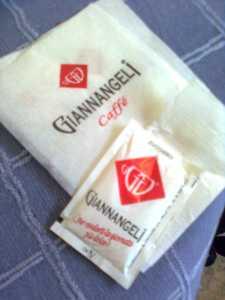 Giannangeli caffee salfrätik ja suhkrupakk