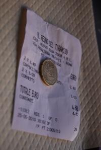 Il Regno Del Tiramisu tšekk ja 20 senti jotsi
