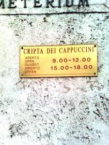 Cripta dei cappuccini uksesilt